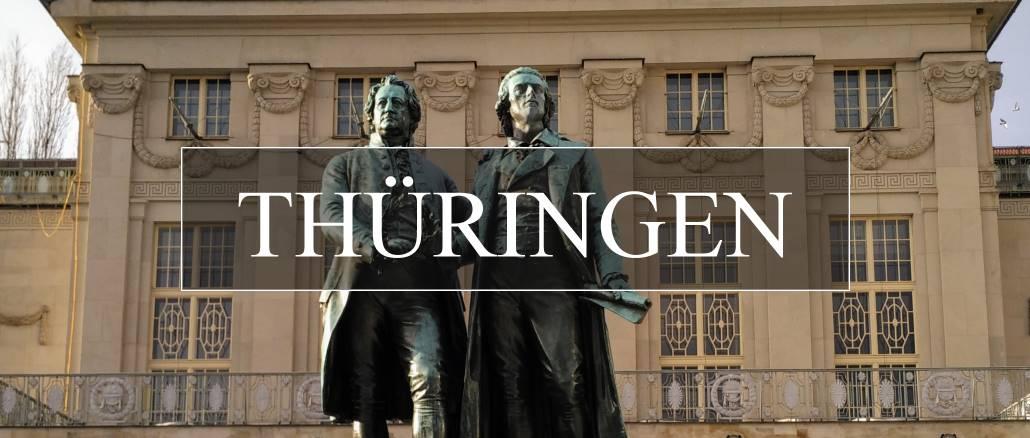 Thüringen, Weimar - Goethen und Schiller Denkmal